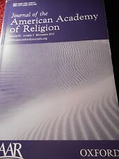 Journal of the American Academy of Religion Vol 81 new Oxford Press