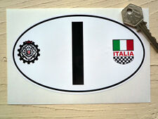 "I for Italy Raci & ITALIA Crest Nationality ID Plate Car Sticker 6"" FIAT ALFA"