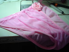 Pink Sheer String Side Bikini Brief Mens Rio Half or Full Back Custom Made USA