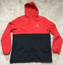 ba8c9110379 $110 New Air Jordan Men's Nike Jacket Red/Black/White Zip Hooded Jumpman L