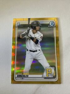 Nick Gonzales 2020 Bowman Draft Gold Refractor /50 1st Bowman Pittsburgh Pirates