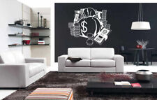Wall Art Vinyl Sticker Room Decal Mural Decor Money Dollar Coins Goods bo2313