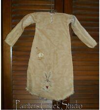 Primitive Decor Homespun Bunny Nightshirt,Cupboard,Grung y,Easter, Rabbit, Spring
