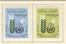 Jordanie 2 timbres non oblitérés 1963 campagne contre la faim / T2819