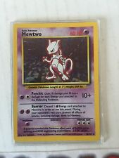 Pokemon card MewTwo Holo shadowless 10/102 base set rare mint non PSA not played