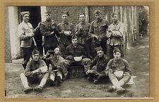 Cpa Carte Photo militaire 15e régiment belge avec nom au dos 1925 m347