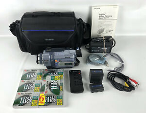 Sony DCR-TRV340 Digital8 Handycam Video Camera Camcorder 700x VHS Bundle