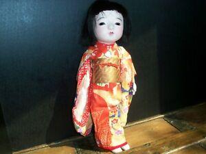 "Vintage 14"" Japanese Ichimatsu Gofun Doll"