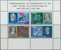 New Zealand 1969 SG910 Captain Cook's Landing MS MNH