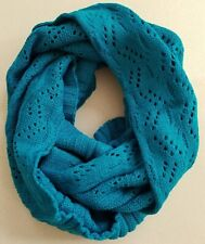 Winter Gift Lady Infinity Scarf, Knit Scarf  = TEAL