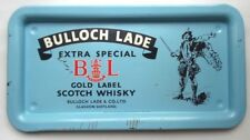 BULLOCH LADE EXTRA SPECIAL GOLD LABEL SCOTCH WHISKY METAL TRAY ADVERTISING