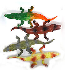 Toy Crocodile Plastic Tactile Model Safari Figure Alligator Nature Reptile Zoo