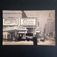 Tulsa Oklahoma Downtown Christmas City Service Gas Station Postcard