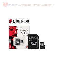 MICRO SD 16GB CLASSE 10 CON ADATTATORE MEMORIA TRANSFLASH KINGSTON SDC10/16GB