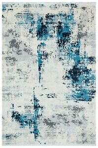 "5'7"" x 7'7"" ft. Trend Cream-Blue Contemporary Area Rug"