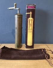 More details for hon ~ vintage brass coffee grinder ~ complete with original box & pouch ~ rare