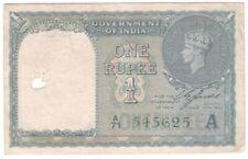 India 1 Rupee 1940 P-25d AU