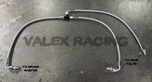 Stainless Steel Brake Boost Delete Lines (w/single port master) Fits Honda Acura