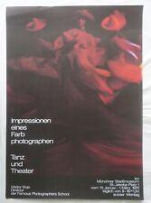 Plakat Poster - Ausstellung Walter Boje - Potographie - Stadtmuseum München 1970