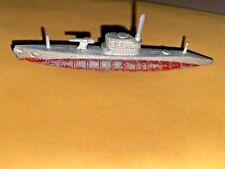 Vintage Red Tootsietoy Military Navy Submarine Ship