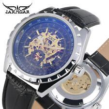JARAGAR Black Leather Band Men Business Automatic Mechanical Wrist Watch Gift
