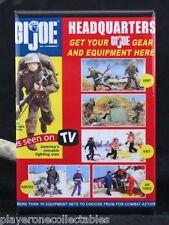 "G. I. Joe Headquarters  2"" x 3"" Fridge / Locker Magnet. Vintage Toy Ad"