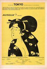 1963 Publicité'Vintage Alitalia Airlines Compagnie Aérienne 15/10/2021 Tokyo