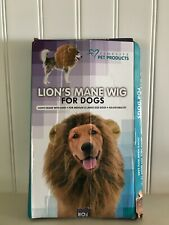 Lions Mane Wig with Ears for Your Pet Dog Medium-Large neck size 13-27 inch New