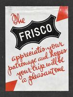 Frisco Railroad Advertising Stamp