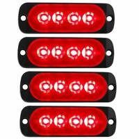 4x Red 4LED Emergency Flashing Strobe Light Truck Car Recovery Warning Lamp 12V