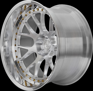 BC RACING 20 INCH WHEELS 2 PIECE TO SUIT PORSCHE 993, 996, 997 WIDE BODY ONLY