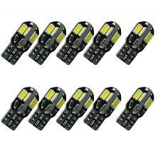 (10) Canbus Error Free T10 White 8 5730 SMD LED Car Side Wedge Light Lamp Bulbs