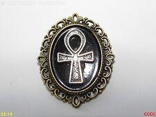 Steampunk broche insignia con Pin Bronce Crux Ansata Ankh Egipcio Símbolo De La Vida