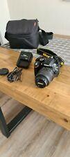 Nikon D D3200 24.2MP Fotocamera Digitale Reflex AF-S DX VR lente 18-55mm - Nero