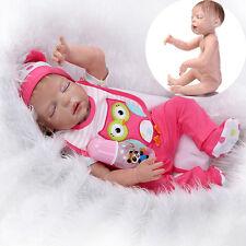 "23"" Handmade Full Body Silicone Reborn Baby Doll Lifelike Baby Girl Dolls"