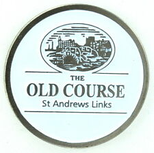 St. ANDREWS (The Old Course) TWO SIDED - WHITE - Logo FLAT Golf BALL MARKER