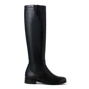 Christian Louboutin Black Boots Size UK 7 Knee High Soft Leather New RRP £1345