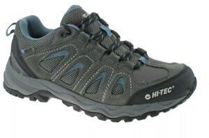 Hi-Tec Mens Signal Hill WP low waterproof grey/blue Walking Hiking Boots  Size 7