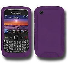 NEW AMZER PURPLE PREMIUM SILICONE SKIN JELLY CASE FOR BLACKBERRY CURVE 3G 9300