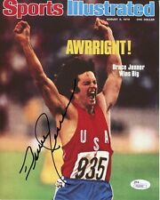 Bruce Jenner Hand Signed 8x10 Color Photo Legendary Si Olympic Cover Jsa