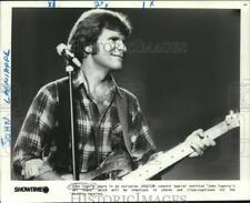 "1985 Press Photo John Fogerty in concert ""John Fogerty's All Stars"" - nox20158"