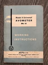 Model 8 Universal Avometer MkIII Working Instructions