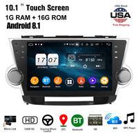 "10.1""Car Stereo Radio GPS Navigation Android 8.1 for Toyota Highlander 2009-2013"