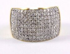Round Diamond Cluster Pave Dome Ring Band 14k Yellow Gold 2.00Ct