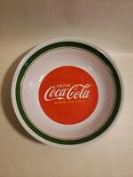 Coca-Cola Drink Serving Bowl Red Bottom Green Near Top Popcorn Collection