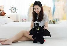 2018 How to Train Your Dragon Toothless Night Fury Stuffed Animal Plush Toy 12''
