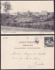Belgique 1910 Timbre CARITAS sur carte postale NAMUR Oblit HAMOIR.........X1591