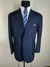 LORO PIANA Blue Blazer Voyager Jacket  Cashmere & Silk  3 Btn US Size 48 Reg