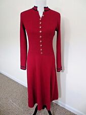 Womens ST JOHN by Marie Gray Sweater Dress Button Front (Med) Excellent Vintage!