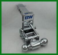 "B&W Tow & Stow Chrome Receiver Hitch Dual Ball Mount 2"" & 2-5/16 Balls 5.5"" Drop"
